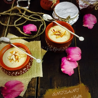 Instant Nolen Gurer Mishti Doi/Sweet curd with Date Palm Jaggery in a jiffy