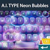 A. I. Type Neon Bubbles א
