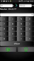 Screenshot of Calculatrice Euros/Francs