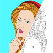 Color by Number, Paint Art - Star Coloring Pages