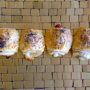 Sausage and Mozzarella Puff Pastries