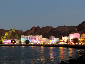 Photo: Muscat - Mutrah by night