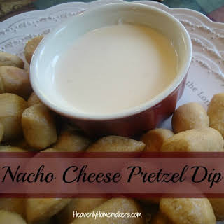 Easy Homemade Nacho Cheese Pretzel Dip.