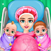 Pregnant Mom And Twin Baby Care Nursery Game