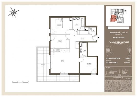 Vente appartement 2 pièces 79 m2