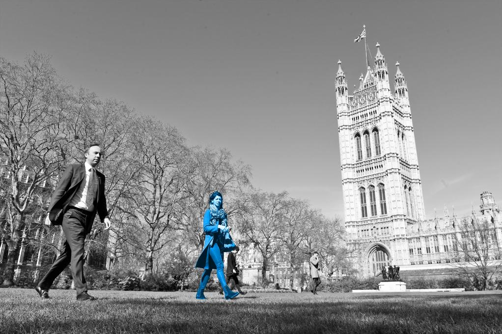 March 23: Matt Hancock in Victoria Tower Gardens, Westminster, with Gina Colandangelo, days before the national lockdown