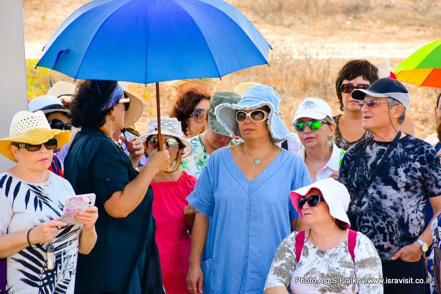 Гид в Израиле Светлана Фиалкова на экскурсии в национальном парке Аполлония, Арсуф.