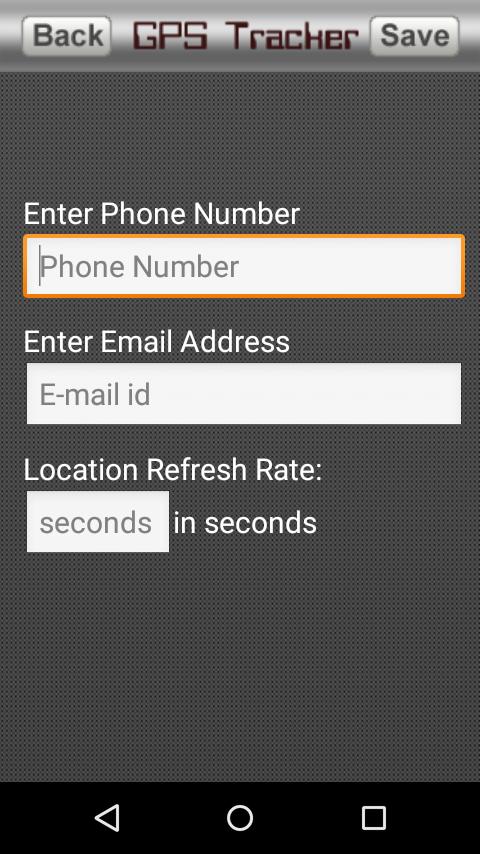 GPS PHONE TRACKER- screenshot