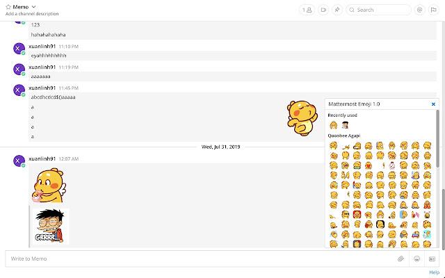 Mattermost Emoji Extension