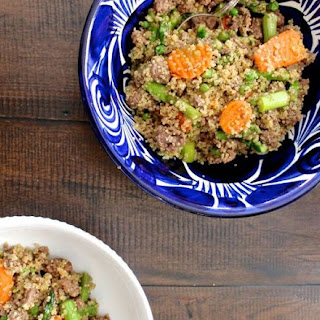 Beef and Asparagus Quinoa Stir Fry