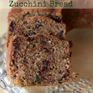 Chocolate Zucchini Bread with Coconut Oil.