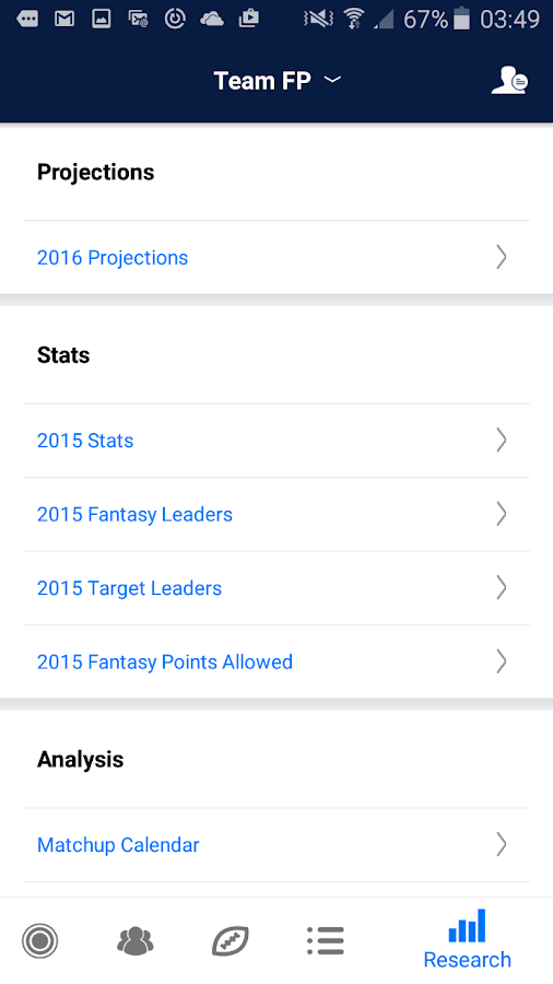 Fantasy Football My Playbook- screenshot