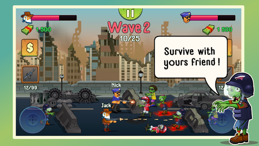 Two guys & Zombies (two-player game) androidiapk screenshots 1