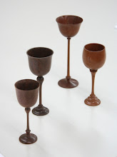 Photo: Chuck brought with him many examples of goblets he has made and...