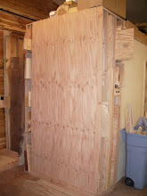 """Photo: The location for all these is going to be on the outside of the plywood storage rack. I'm not too worried about the weight since this was the plan from the beginning, and the outside of the plywood rack is made from a sheet of 1"""" plywood..."""