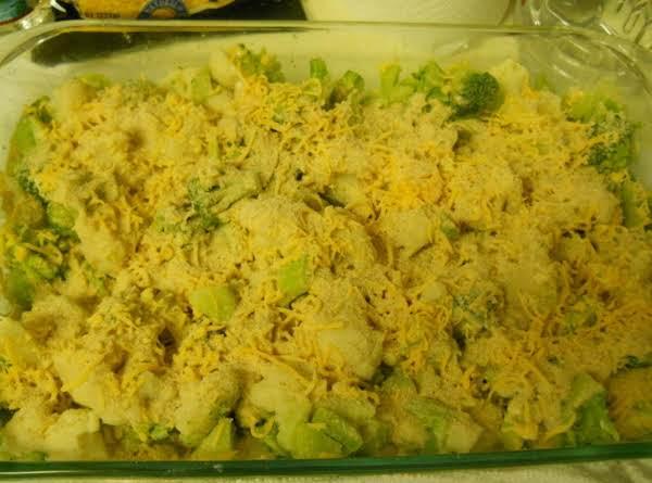Broccoli Cheese Casserole Over Penne Pasta Recipe