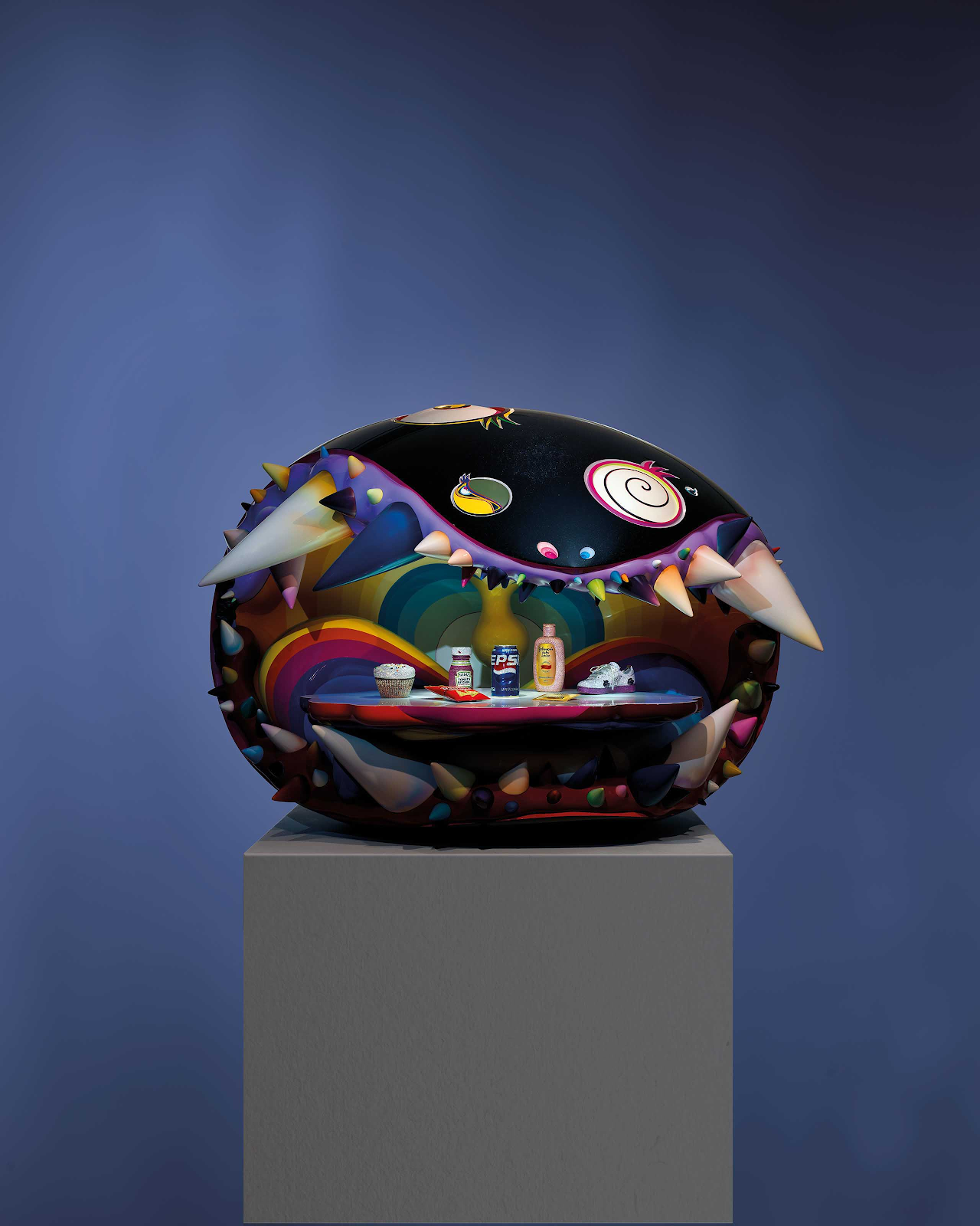 Takashi Murakami and Pharrell Williams, The Simple Things. Image from Christie's.