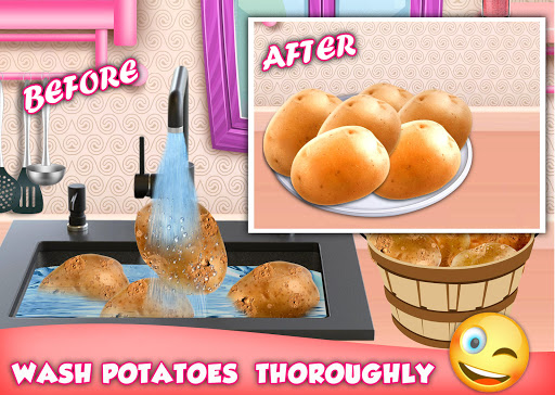 Code Triche Crispy French Fries Recipe - Top Chef Cooking Game apk mod screenshots 2