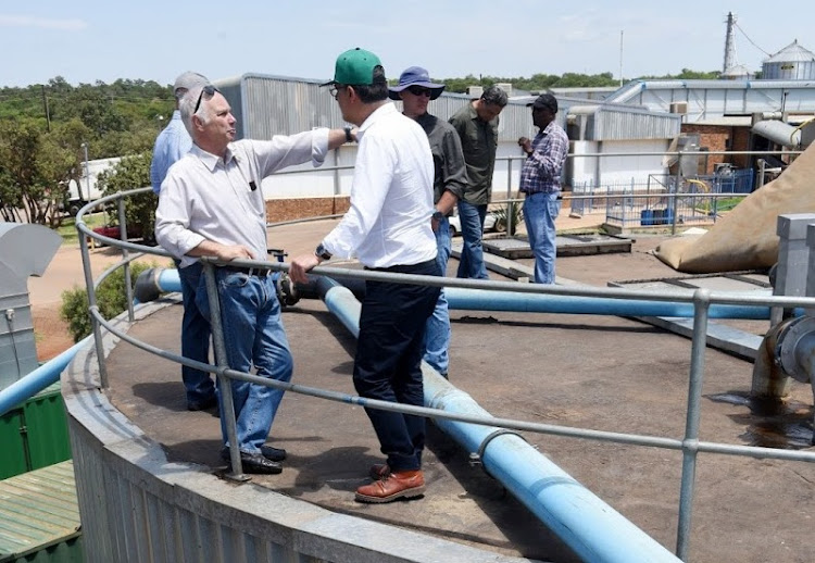 Directors Otto Hager and Horst Unterlechner of ibert biogas plant at Tweefontein. Picture: FREDDY MAVUNDA