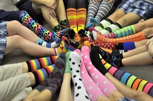 Don't forget to take a pic of all the ladies with their socks on....