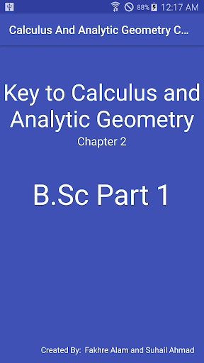 Chapter 2 - Calculus And Analytic Geometry B.Sc 1 1.0 screenshots 1