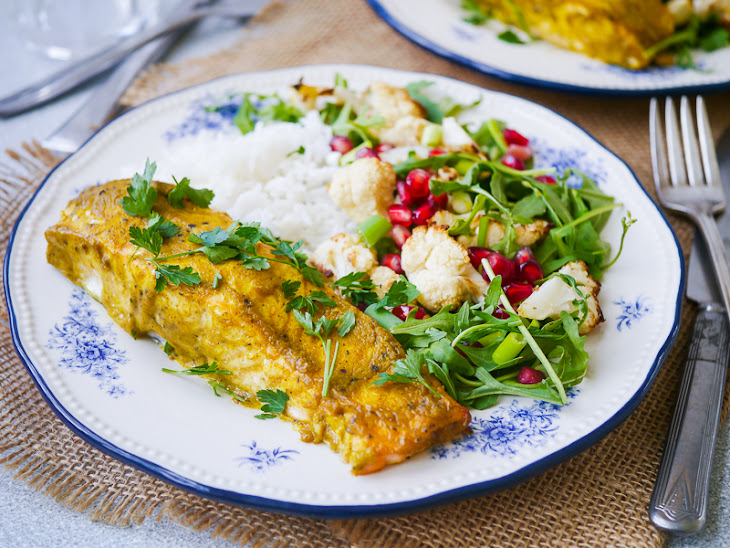 Indian Spiced Baked Salmon Fillet Recipe