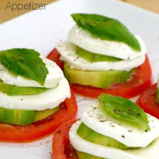 Avocado Caprese Appetizer.