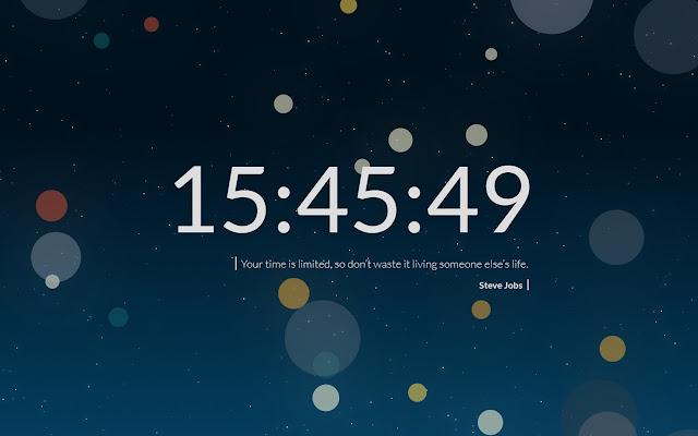New Tab Clock