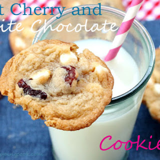 Chewy White Chocolate and Tart Cherry Cookies