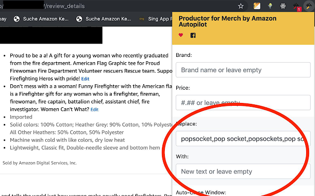 Productor for Merch by Amazon Autopilot