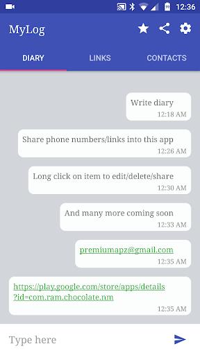 MyLog - Diary + Notes + Pocket v1.1 screenshots 1