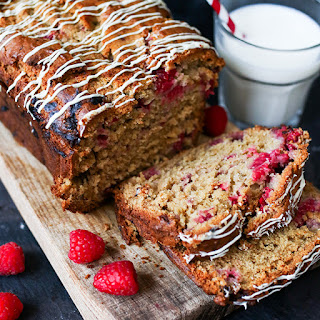 Raspberry and White Chocolate Loaf.