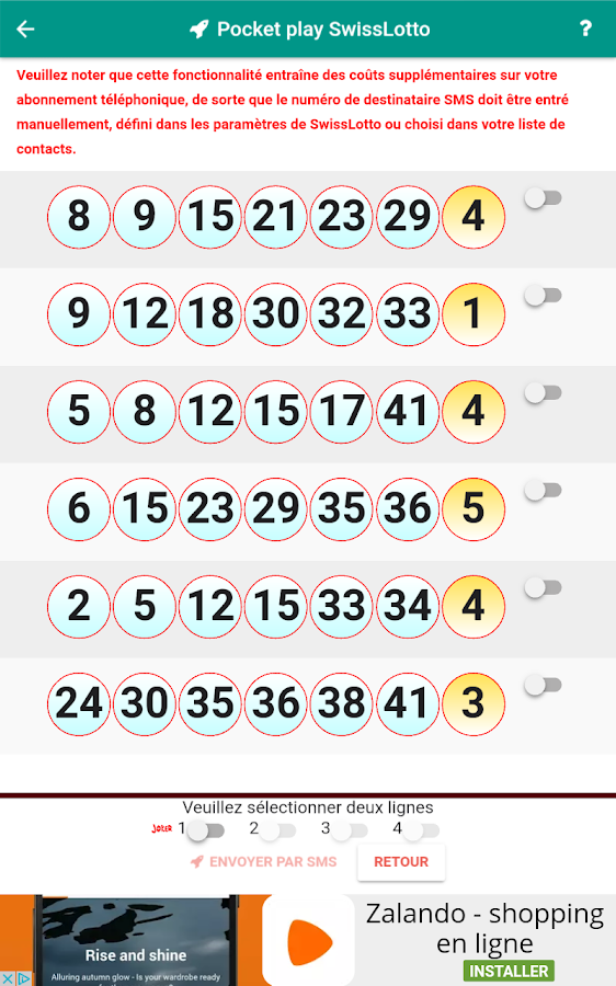 Swiss Lotto Lotery- screenshot