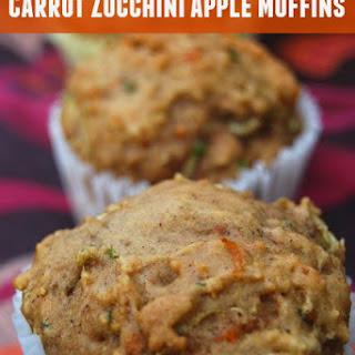 Zucchini Carrot Apple Muffins
