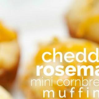 Cheddar Rosemary Mini Cornbread Muffins