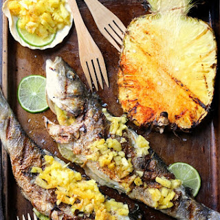 Pineapple Lime Grilled Branzino.
