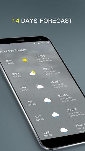 Local Weather Forecast & Visual Widget  screenshots 5