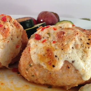 Baked Chicken Stuffed with Sun Dried Tomato and Fresh Mozzarella