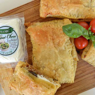 Easy Goat's Cheese, Caramelized Onion And Tomato Pastries