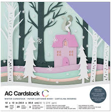 American Crafts Textured Cardstock Pack 12X12 60/Pkg - Winter