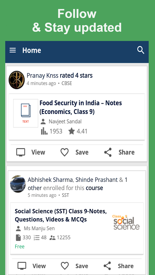 Class 9 App for CBSE / NCERT- screenshot