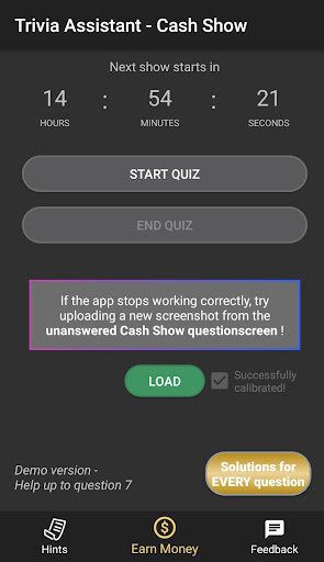 Cash Show Help - Trivia Assistant screenshot 1