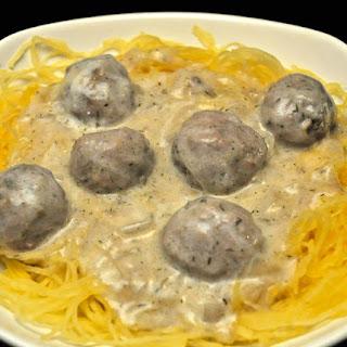 Swedish Meatballs on Spaghetti Squash