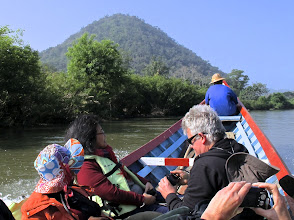 Photo: Taking a boat ride on the Pai River to the border post