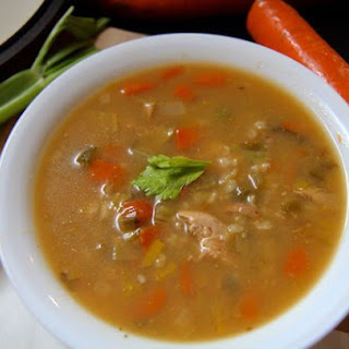 Best Ever Chicken and Brown Rice Soup - Healthy One Pot Meal!.