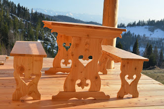 Photo: stół góralski ławki