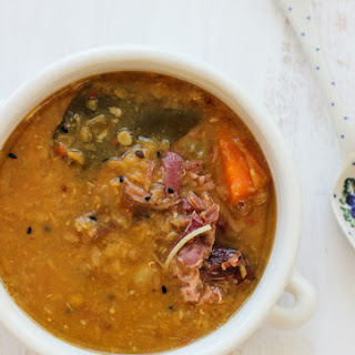 Lentil Coconut and Ham Hock Soup