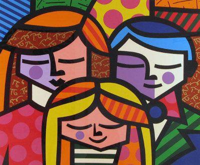 La Familia (The Family) by Romero Britto