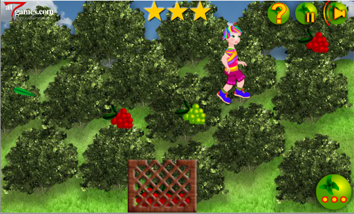 Rainbow Girl Collecting Fruits 1.0.1 screenshots 2