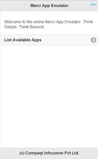 Merci App Emulator